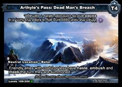 Arthyle's Pass: Dead Man's